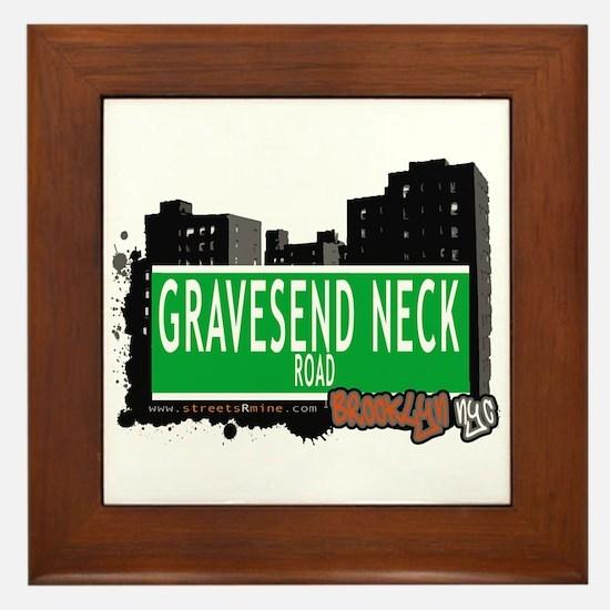 GRAVESEND NECK ROAD, BROOKLYN, NYC Framed Tile