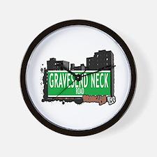 GRAVESEND NECK ROAD, BROOKLYN, NYC Wall Clock