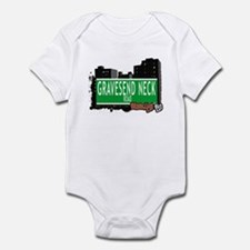 GRAVESEND NECK ROAD, BROOKLYN, NYC Infant Bodysuit