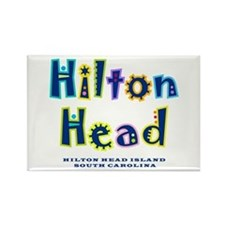 Hilton Head Type - Rectangle Magnet