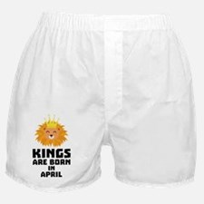 Kings are born in APRIL C723w Boxer Shorts