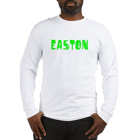 Easton Faded (Green) Long Sleeve T-Shirt