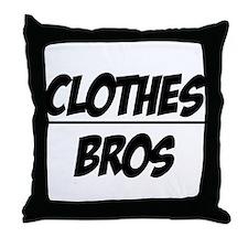 """""""Clothes Over Bros"""" Throw Pillow"""