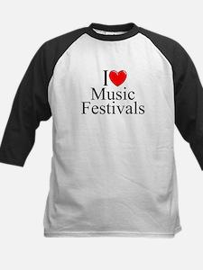 """""""I Love (Heart) Music Festivals """" Kids Baseball Je"""