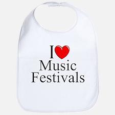 """""""I Love (Heart) Music Festivals """" Bib"""