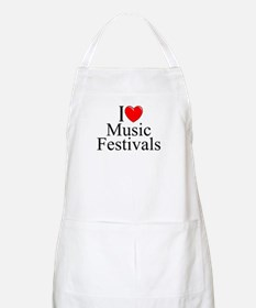 """I Love (Heart) Music Festivals "" BBQ Apron"