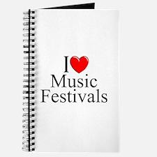 """""""I Love (Heart) Music Festivals """" Journal"""