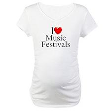 """I Love (Heart) Music Festivals "" Shirt"