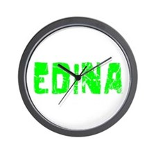 Edina Faded (Green) Wall Clock