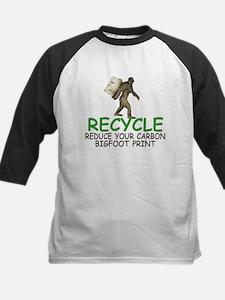 Funny Bigfoot Kids Baseball Jersey