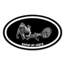 Eatin' at Joe's Mountain Biking Oval Decal