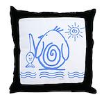 Primitive Penguin Throw Pillow