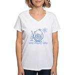 Primitive Penguin Women's V-Neck T-Shirt