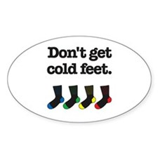 The Knitting Mafia: Cold Feet Oval Sticker