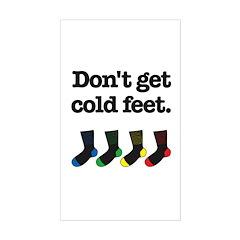The Knitting Mafia: Cold Feet Sticker (Rectangular