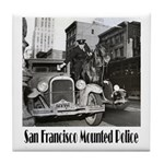SFPD Mounted Police Tile Coaster