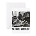 SFPD Mounted Police Greeting Cards (Pk of 10)