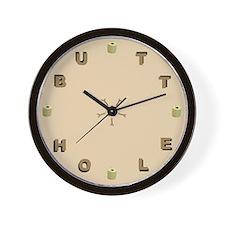 BUTTHOLE Wall Clock