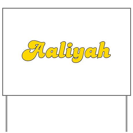 Retro Aaliyah (Gold) Yard Sign