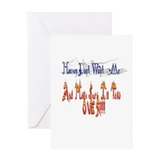 Funny Blue flame Greeting Card
