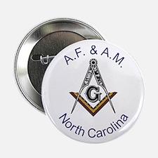 """North Carolina Square and Compass 2.25"""" Button"""