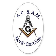 North Carolina Square and Compass Oval Decal