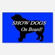 Show Dogs On Board Decal