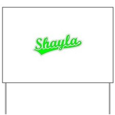 Retro Shayla (Green) Yard Sign