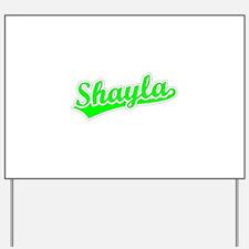 Retro Shayla (Green) Yard Sign