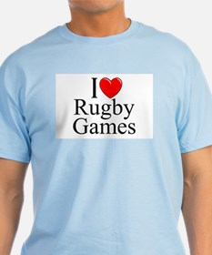 """I Love (Heart) Rugby Games"" T-Shirt"