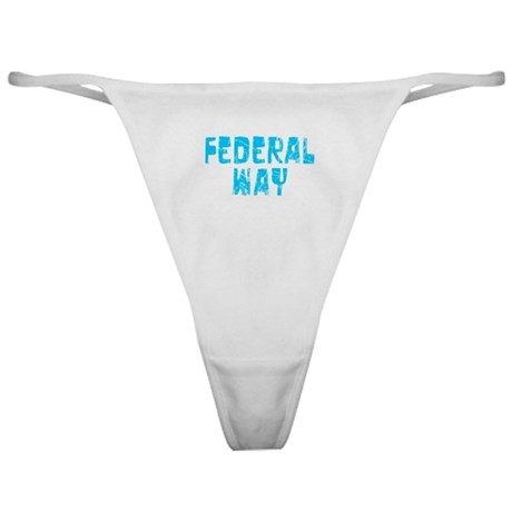 Federal Way Faded (Blue) Classic Thong