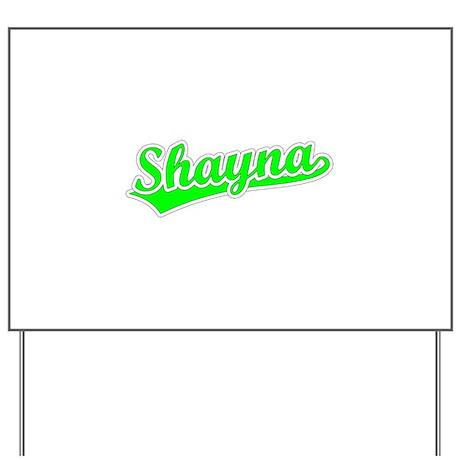 Retro Shayna (Green) Yard Sign
