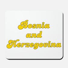 Retro Bosnia and H.. (Gold) Mousepad