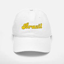 Retro Brazil (Gold) Baseball Baseball Cap