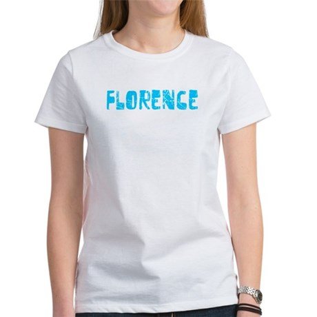 Florence Faded (Blue) Women's T-Shirt