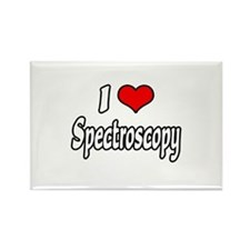 """I Love Spectroscopy"" Rectangle Magnet"