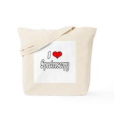 """""""I Love Spectroscopy"""" Tote Bag"""