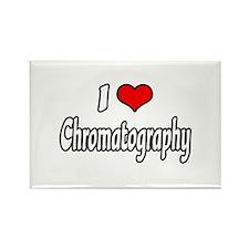 """I Love Chromatography"" Rectangle Magnet"