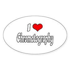 """I Love Chromatography"" Oval Stickers"