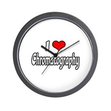 """I Love Chromatography"" Wall Clock"