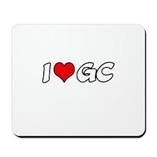 """I Love GC"" Mousepad"