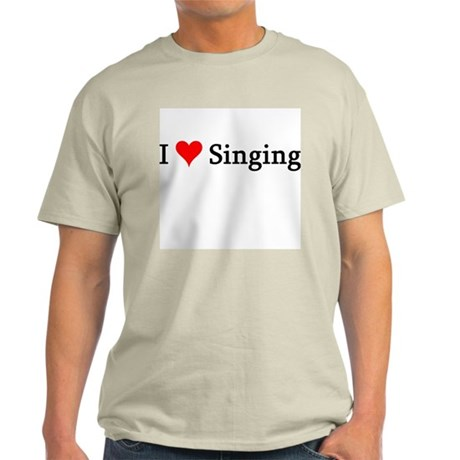 I Love Singing Ash Grey T-Shirt