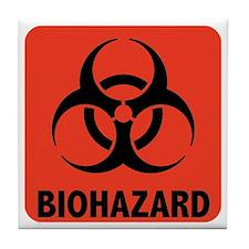 Biohazard Warning Symbol Tile Coaster