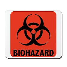 Biohazard Warning Symbol Mousepad