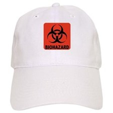 Biohazard Warning Symbol Baseball Cap