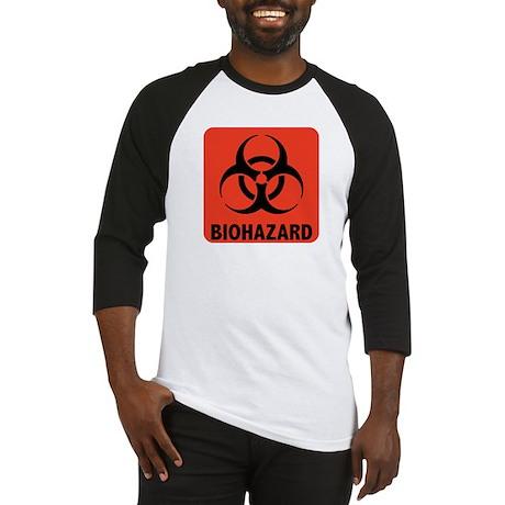 Biohazard Warning Symbol Baseball Jersey