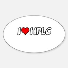 """""""I Love HPLC"""" Oval Decal"""