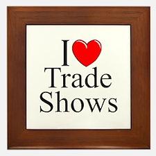 """""""I Love (Heart) Trade Shows"""" Framed Tile"""