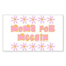 Moms for McCain Rectangle Sticker 50 pk)