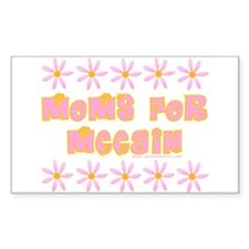 Moms for McCain Rectangle Decal
